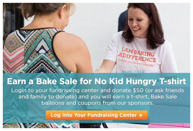 2016 Earn a Bake Sale for No Kid Hungry T-shirt